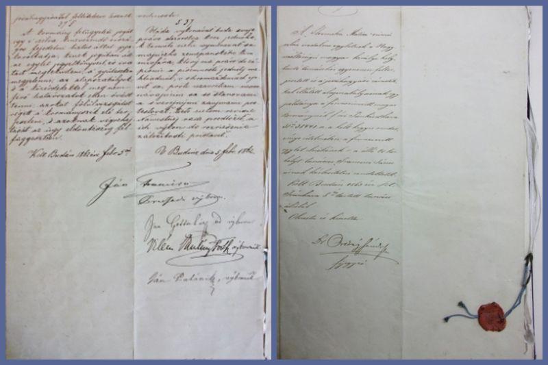 Stanovy sú datované 5. 2. 1862, podpísané predsedom dočasného Výboru Jánom Franciscim a jeho členmi Jánom Gotčárom, Viliamom Pauliny-Tóthom, Jánom Palárikom.